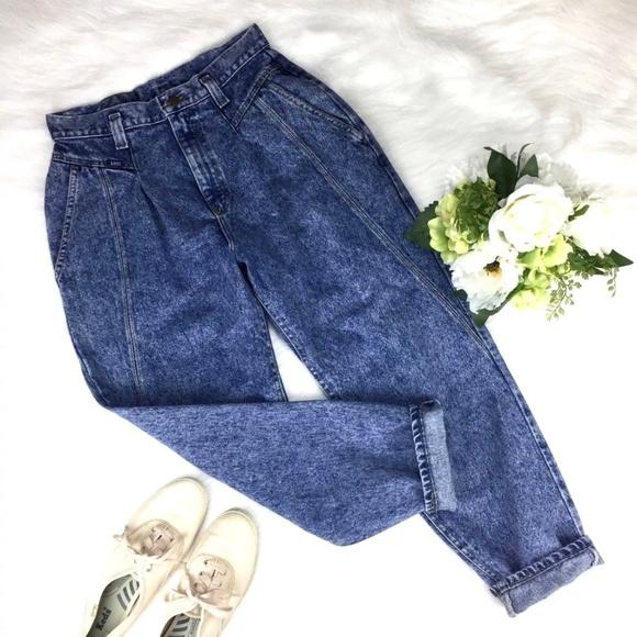 71411914 Lee Denim - Vintage Lee Mom Jeans Petite High Waist Taper 30.5